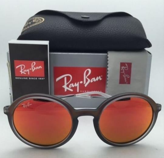Ray-Ban New Ray-Ban Sunglasses RB 4222 6167/6Q 50-21 Shot Red Rubber Frame w/ Red Mirror Lenses Image 7