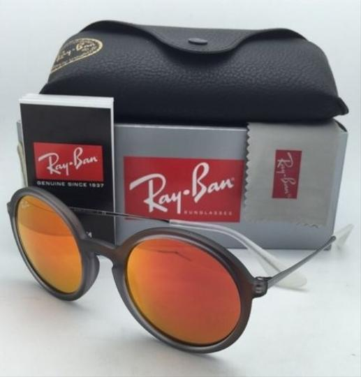 Ray-Ban New Ray-Ban Sunglasses RB 4222 6167/6Q 50-21 Shot Red Rubber Frame w/ Red Mirror Lenses Image 8