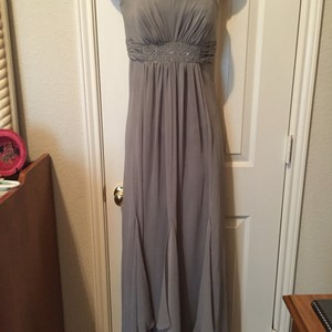 David's Bridal Grey Dress