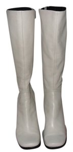 Nine West Leather Cream Boots