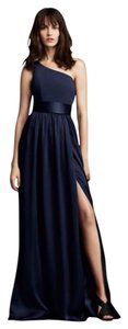 White by Vera Wang Belted One Shoulder Dress