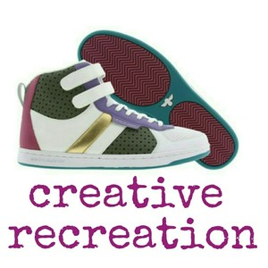 Creative Recreation White / Purple / Military / Fuchsia Athletic