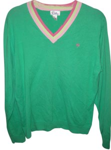 Lilly Pulitzer V-neck Spring Striped Preppy Sweater