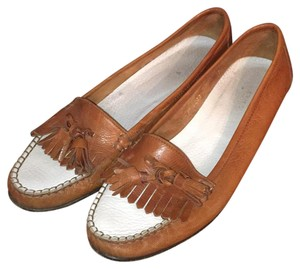 Cole Haan Brown/white Flats