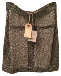 Rag & Bone Wool Designer Helmut Lang Theory & Mini Office Suit Designer Suit Mini Skirt Black Gray