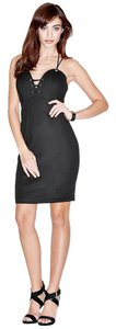 Marciano Sexy Curves Halter Lace Up Dress