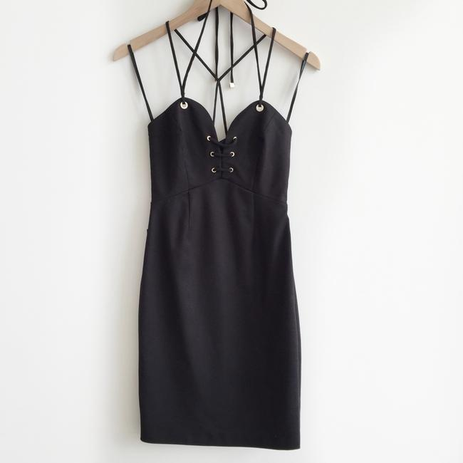 Marciano Sexy Curves Halter Lace Up Dress Image 3