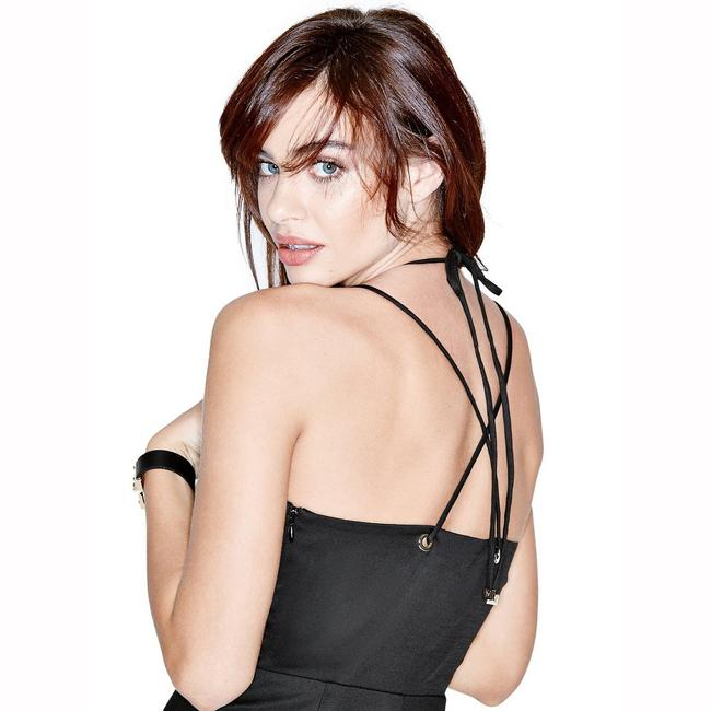 Marciano Sexy Curves Halter Lace Up Dress Image 6