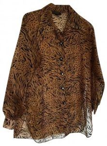 Diahann Carroll Top Tiger Print