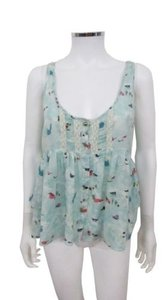 Free People Boxy Bird Voile Top Multi-Color