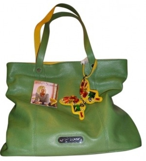 Preload https://img-static.tradesy.com/item/162466/betsey-johnson-pop-butterfly-green-leather-tote-0-0-540-540.jpg