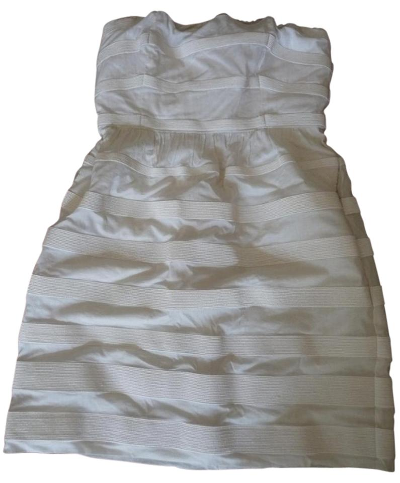 J Crew Cotton Stripes Strapless Special Occasion Clic Dress
