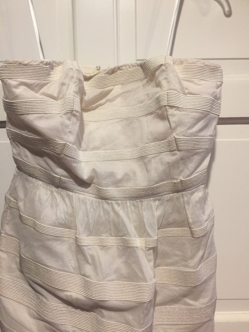 J.Crew Cotton Stripes Strapless Special Occasion Classic Dress Image 3
