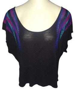 Silence + Noise Black and purple Halter Top