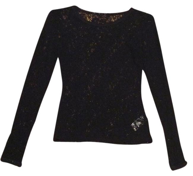 French Connection Top Black Lace