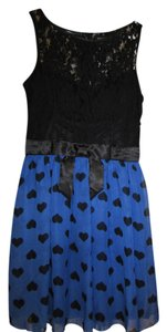 B. Smart short dress Black/Blue on Tradesy