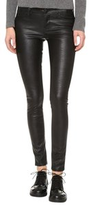 Blank Denim Faux Leather Skinny Pants Black