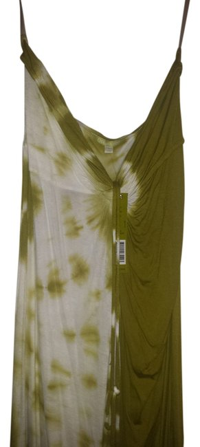 Olive Green & Ivory Maxi Dress by Gianni Bini