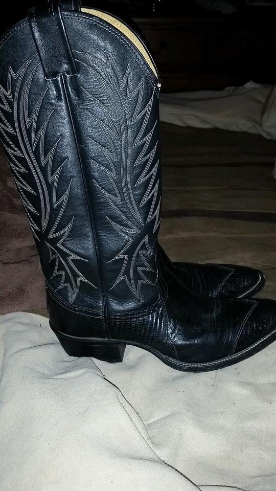 965a739a00e Nocona Black Lizard Used Like New Women's Unique Vintage Cowboy  Boots/Booties Size US 5.5 Regular (M, B) 74% off retail