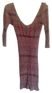 Free People short dress Purple/Multi Colored Knit Vintage on Tradesy