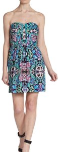 Twelfth St. by Cynthia Vincent short dress Floral Printed Strapless Size L Pansy on Tradesy