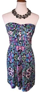 Twelfth St. by Cynthia Vincent short dress $70 St. Floral Strapless Size L on Tradesy