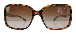 Tiffany & Co. New Tiffany & Co. Sunglasses TF 4043-B-A 8115/3B Colored Havana Rhinestone Acetate Full-Frame Brown Gradient Lens Made in Italy 56mm