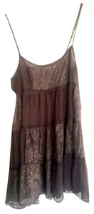 Free People short dress Charcoal Chiffon Vintage on Tradesy