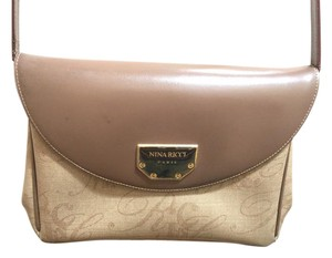 Nina Ricci Vintage Classic Brown / Tan Clutch