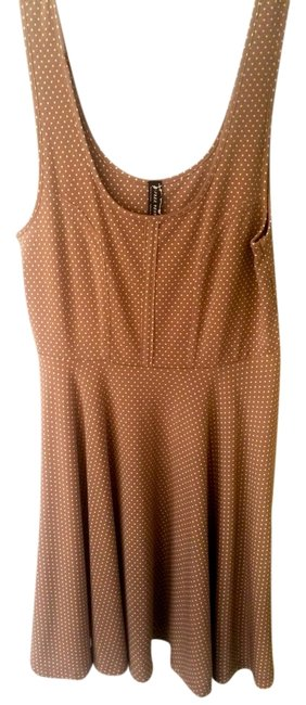 Free People short dress Salmon/Polka-Dotted Vintage Polka Dot Skater on Tradesy