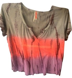 Free People Dip Dye Vintage T Shirt Purple/Grey, Dip-Dyed