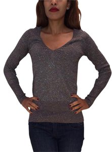 Mango Sparkle Metallic Shine Top Charcoal
