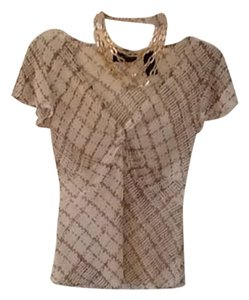 New York & Company Top Beige, Brown