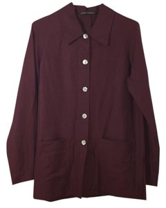 Laura Ashley Button Down Shirt Maroon