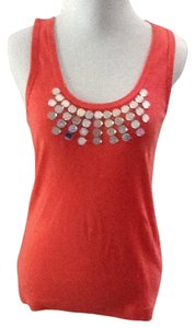 Tory Burch Brown Cotton Sleeveless Casual Top ORANGE