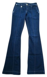 Cache Size 0 Long Boot Cut Jeans-Dark Rinse