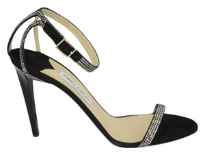 Jimmy Choo 0603608 Bridal Pump Sandal Strappy Black Formal