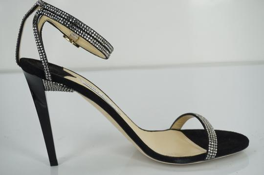Jimmy Choo 0603608 Bridal Pump Sandal Strappy Black Formal Image 2