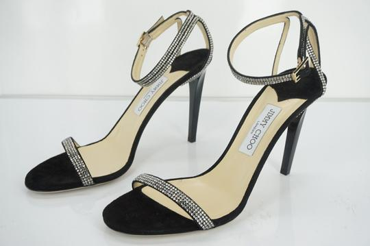 Jimmy Choo 0603608 Bridal Pump Sandal Strappy Black Formal Image 3