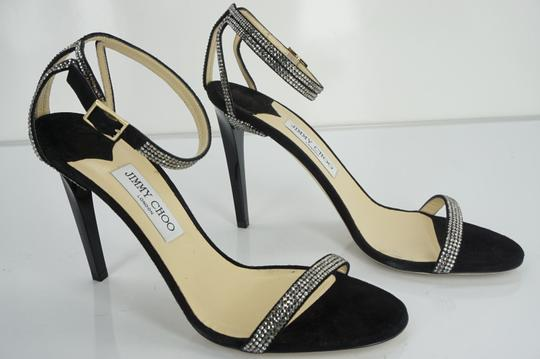 Jimmy Choo 0603608 Bridal Pump Sandal Strappy Black Formal Image 7