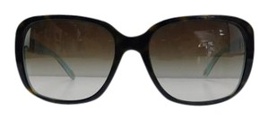 Tiffany & Co. New Tiffany & Co. Sunglasses TF 4120-B 8134/3B Top Havana Rhinestone Blue Gradient Acetate Full-Frame Made in Italy 57mm