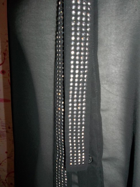 Studio Y Layering Button Up Longsleeve Studded Top Black Sheer Image 3