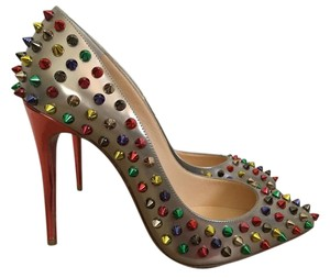 Christian Louboutin Pointed Leather Classic Multicolor Pumps