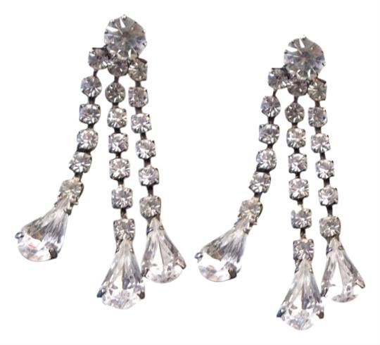 Preload https://item5.tradesy.com/images/unknown-pierced-earring-set-crystal-rhinestones-with-silver-1625514-0-0.jpg?width=440&height=440