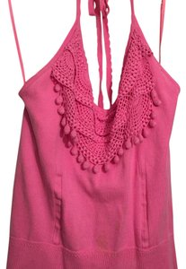 MILLY Halter Sleeveless Top Pink