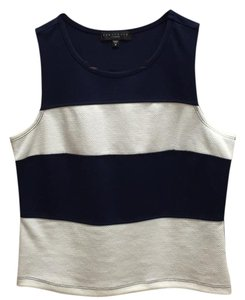 Sanctuary Clothing Top Navy and white