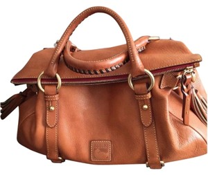 Dooney & Bourke Brown British Tan Satchel in Natural