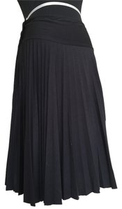 Topshop Pleated Jersey Knit Skirt Black
