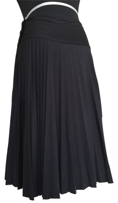 Topshop Pleated Knit Skirt Black