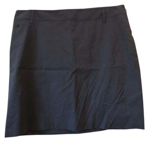 Martin + Osa Side Zip Casual Mini Skirt Navy Blue
